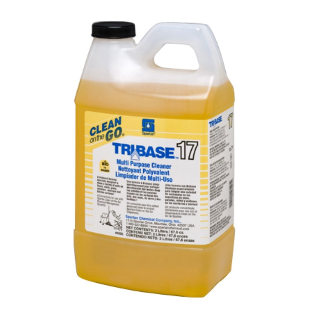Spartan Clean on the Go 17 Tribase Multi-Purpose Cleaner, 2 Liter Bottle, 4 Bottles Per Case by SPARTAN