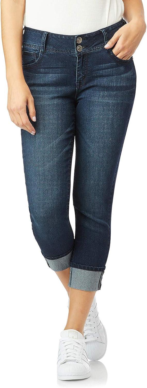 WallFlower Womens Juniors Luscious Curvy Crop//Capri Jeans