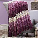 Herrschners® Plum Delight Crochet Afghan Kit