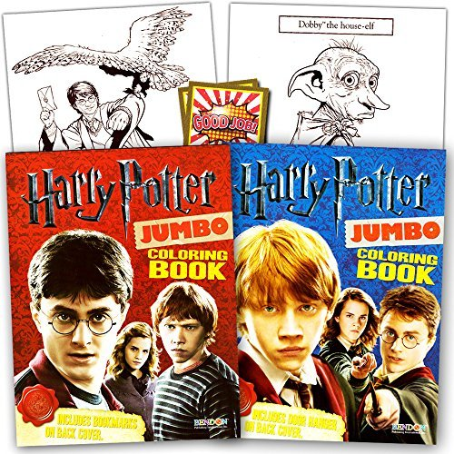 Harry Potter Coloring Book Super Set -- 2 Coloring Books and Reward (Harry Potter Hermoine)