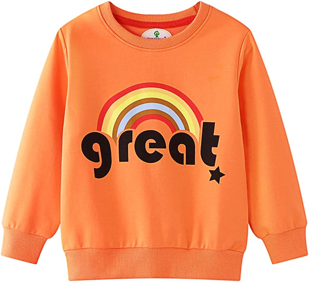 WonderBabe Toddler Girl Outfit Sweatshirt Pants Tops Cotton Casual Kids Long Sleeve Clothes