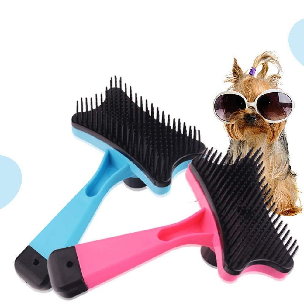 Ldlms Pet Supplies Pet Comb Dog cat Hair Removal Comb Clean Beauty flea Brush (Color : Rose red)