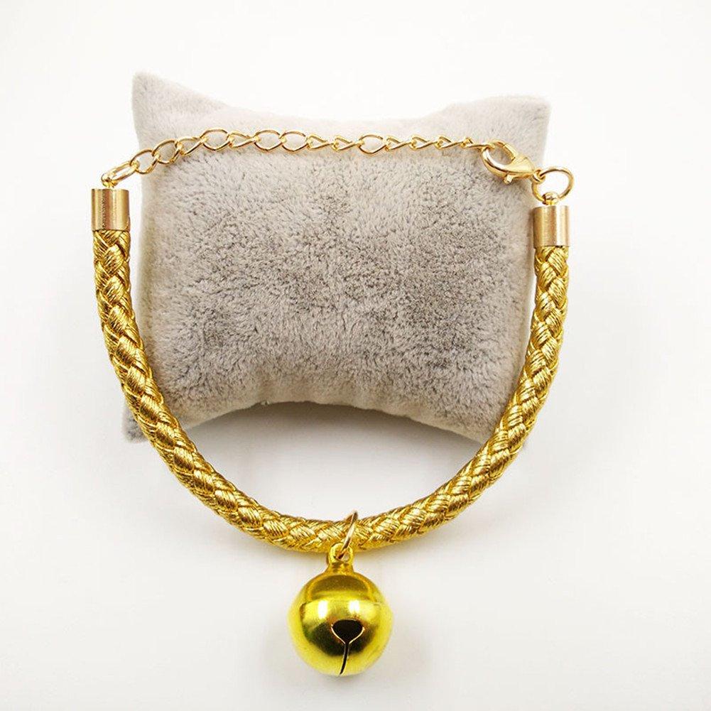 - Morbuy peluche conveniente para los gatos y los perros peque/ños Colgantes ajustables de la PU con el colgante de la campana fuentes del animal dom/éstico. perrito XS, plata