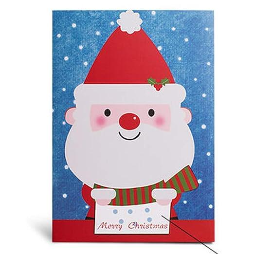 Tarjeta de felicitación grabable de Navidad con batería ...