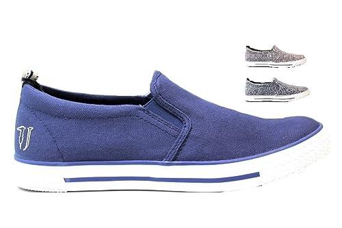 nuove varietà outlet grande selezione Trussardi Jeans 77S519 Azzurro, Blu e Marrone Mocassini Uomo ...