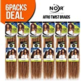 Janet Collection Synthetic Hair Braids Noir Afro Twist Braid (Marley Braid) (4/30)