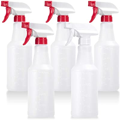 4 Pack, 32 Oz, All-Purpose Heavy Duty Chemical Grade Spraying Bottles Leak Proof Empty Bottle for Cleaning Solution with Adjustable Nozzle and Measurements Alliance Chemical Plastic Spray Bottle