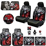 jack and sally car seat covers - New 15 Pieces Nightmare Before Christmas Jack Skellington Ghostly Car Truck SUV Seat Covers Floor Mat Bundle Set