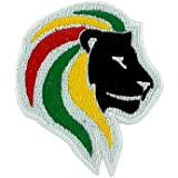 Patch ecusson brode rasta backpack lion ethiopie rastafarai one love reggae