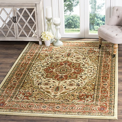 safavieh lyndhurst collection lnh330r traditional oriental medallion ivory and rust area rug 4u0027 x 6u0027