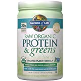 Garden of Life Raw Organic Protein & Greens Lightly Sweet - 20 Servings, Vegan Protein Powder for Women and Men with Juiced G