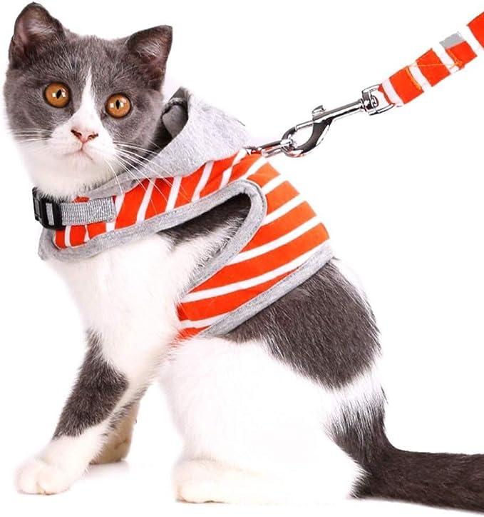 ASOCEA Arnés para Gato con Correa Ajustable de algodón Suave a ...