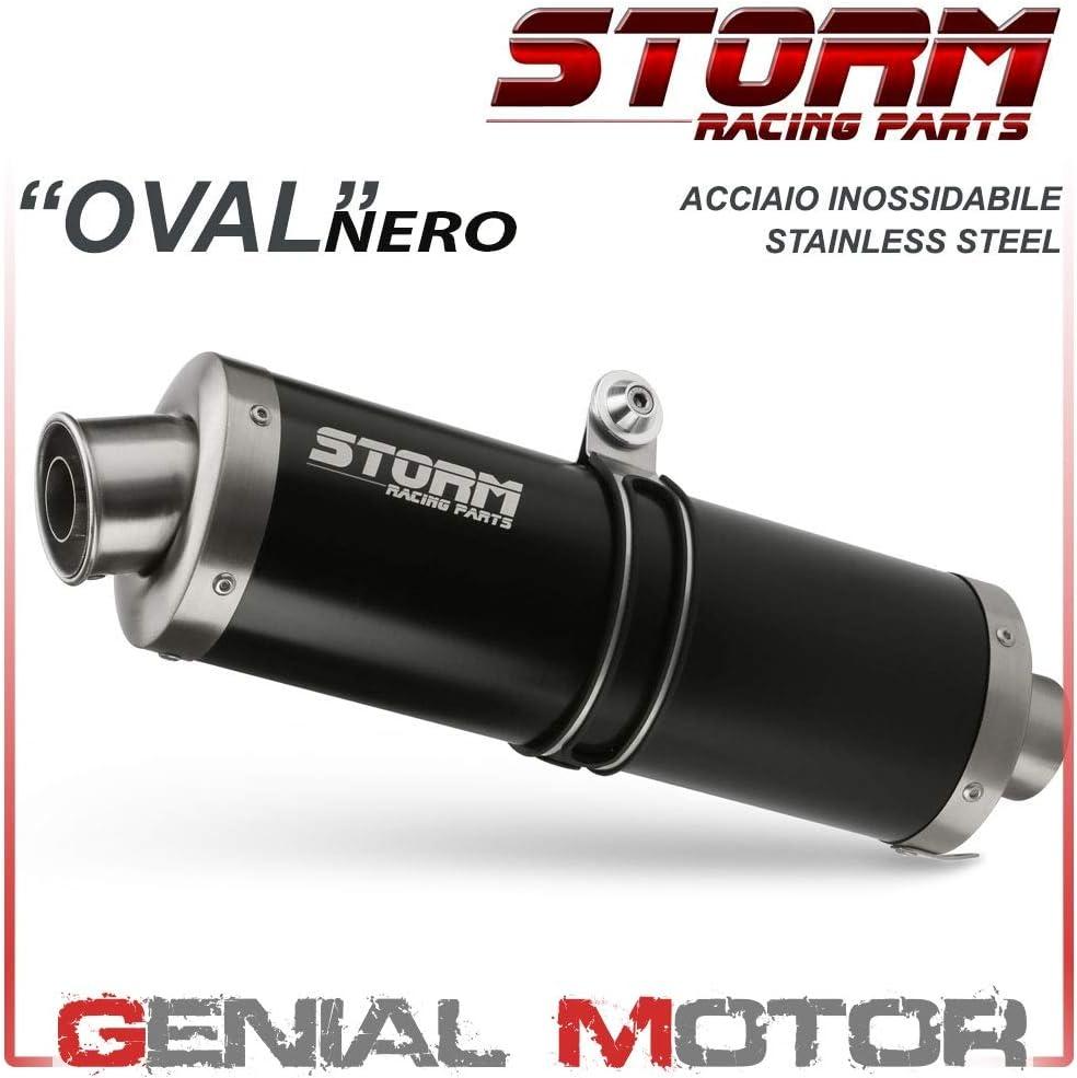 74.H.020.LX1B Scarico Storm by Mivv Oval Nero acciaio inox per Hornet 600 2005 05