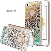 iPhone SE Case, iPhone 5s Case, iPhone 5 Case, Haihood Slim Fit Hybrid[Crystal Clear]Transparent Flexible Grip[Scratch Resistant] Soft TPU Protective Cover (Green)