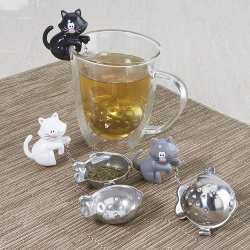 Joie Cat Fish Tea Infuser Strainer - Black or White (Black) by Joie (Image #1)