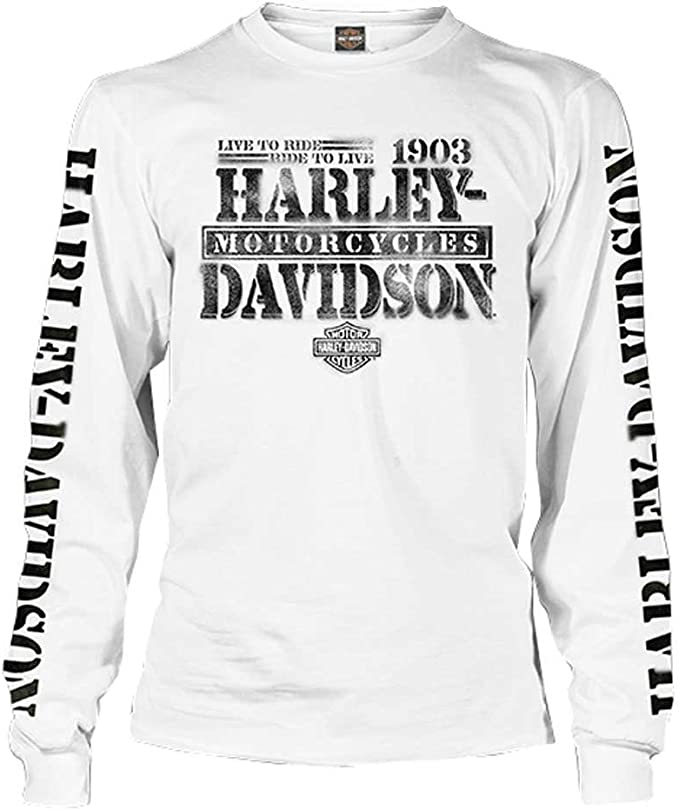 Harley-Davidson Men's Distressed Freedom Fighter Long Sleeve Shirt