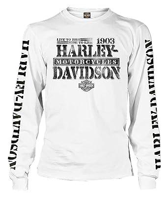 f9475073b7 Harley-Davidson Men's Distressed Freedom Fighter Long Sleeve Shirt, ...