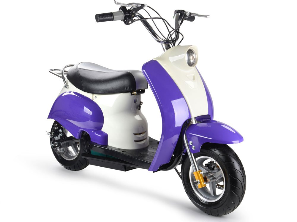 MotoTec 24v Electric Moped Purple by BIG TOYS