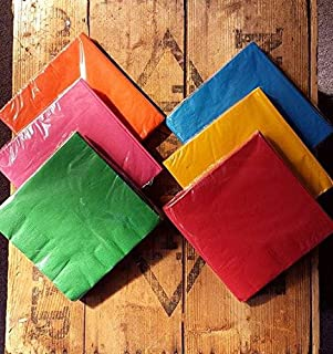 Rainbow Lunch size Napkin Set paper 120 napkins Unicorn theme Gay Pride London Carnival Colours & 5 packets of 8 Rainbow paper Plates multi coloured rainbow theme 40 ...