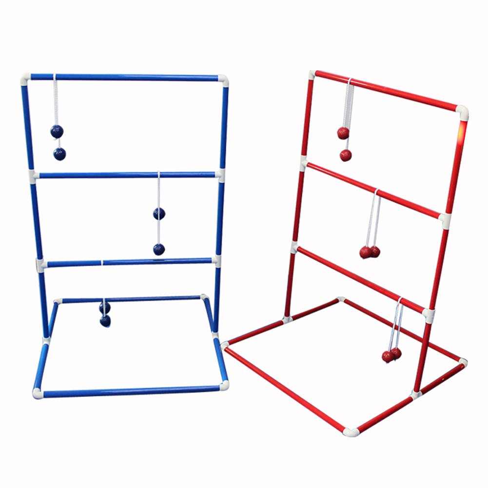 Adahill(TM) Golf Ball Game Ladder Toss Game Colorful with 3 Pairs 2 Layer Practice Golf Training Ball (Ladder B)