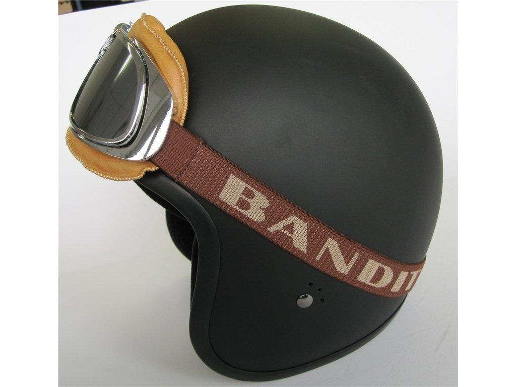 Gafas Castañas Goggle Bandit Aviator Old Classic Style Cristales Con Espejo y Custom Silver Harley Moto: Amazon.es: Juguetes y juegos