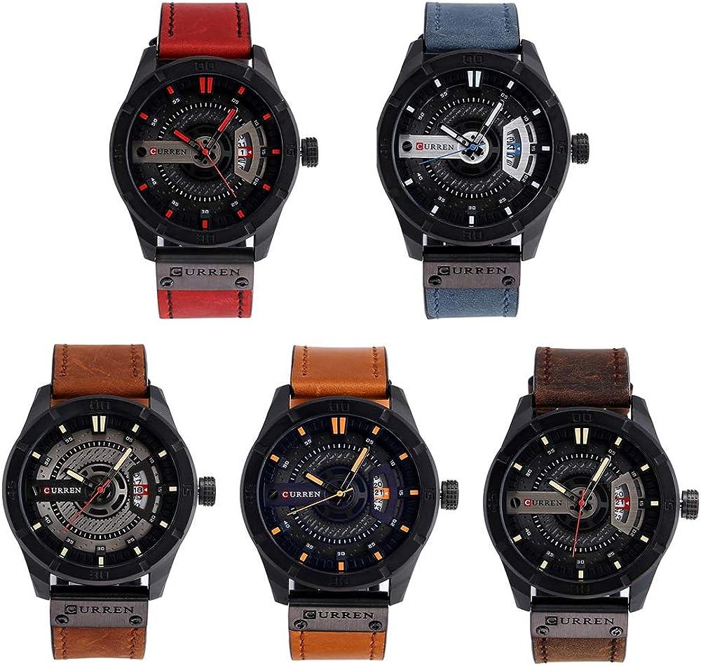 Orologio da uomo boutique Nouveau Montre Homme Montre Homme Calendrier Montre Étanche Ceinture D\'affaires Montre Homme Masculino Reloj Hombre Beige