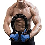 Portzon Power Twister, Practical Flexible Strength Phython Power Twister, Arm Chest Shoulder Spring Exercise Fitness Training Bar, Up to 132 lbs(60kg)