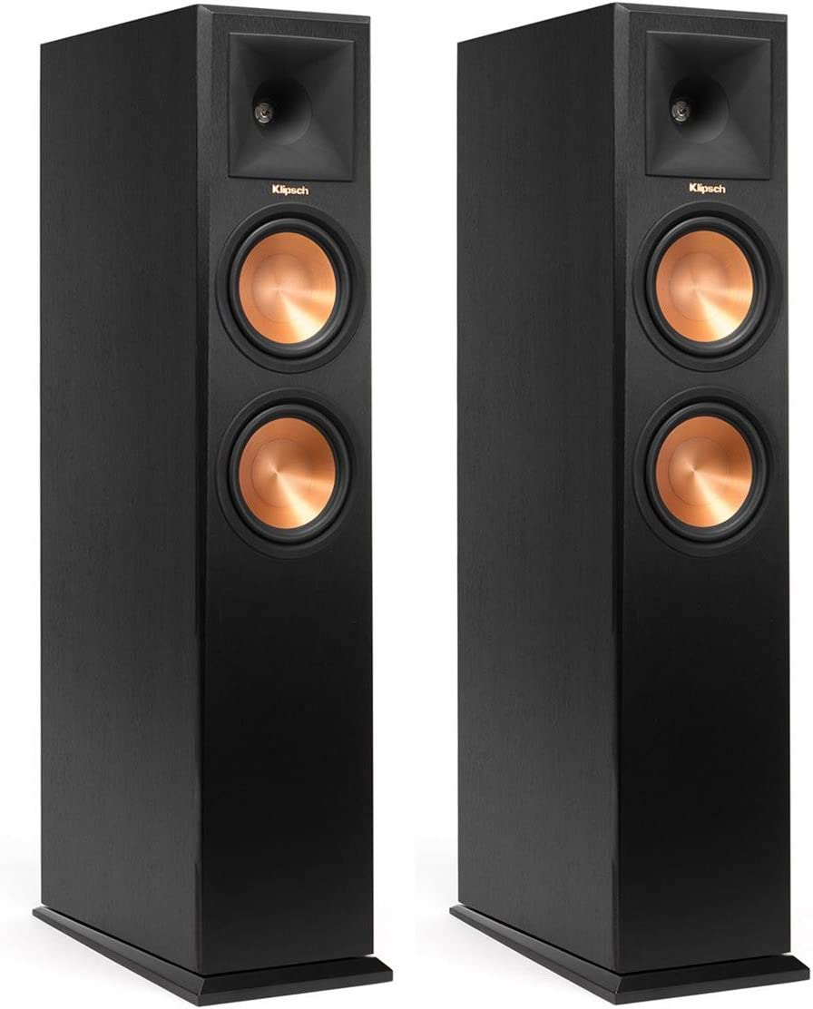 Klipsch RP-260F Reference Premiere Floorstanding Speaker with Dual 6.5 inch Cerametallic Cone Woofers – Pair Ebony