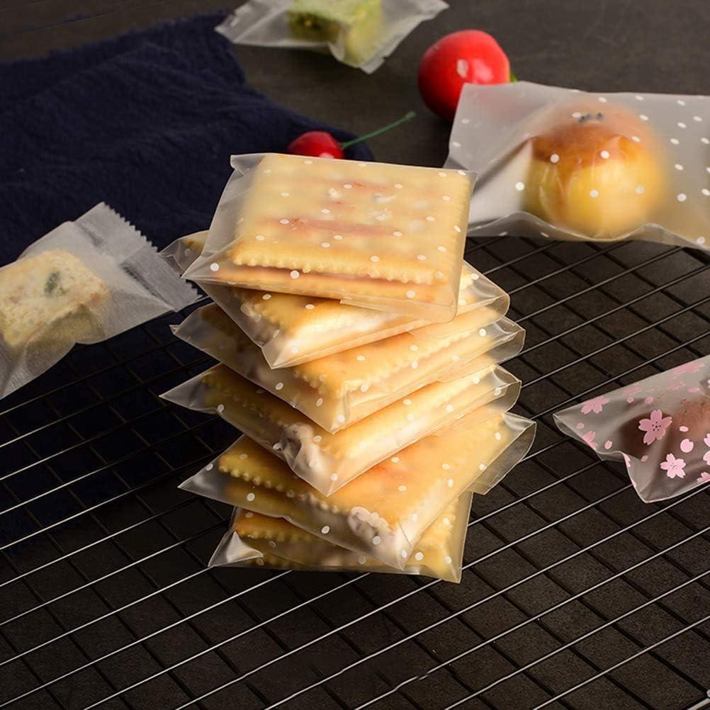 Caramelo Galleta Chocolate Regalo 300pcs JAHEMU Autoadhesiva Galletas Bolsas Transparente Dulces Bolsas Celof/án Bolsas para panader/ía
