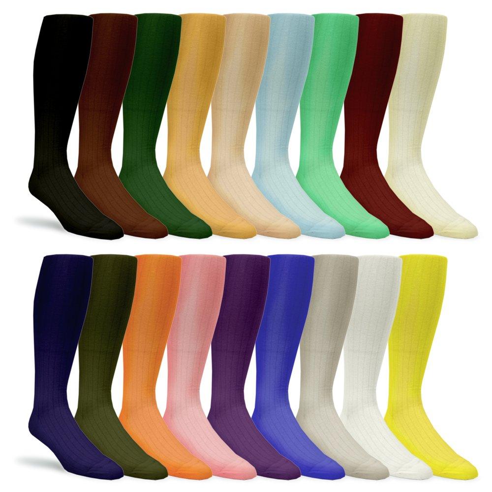 Solid Color, Over-The-Calf, Dress Socks, Golf Socks, Golf Knicker Socks, Bundle Pack
