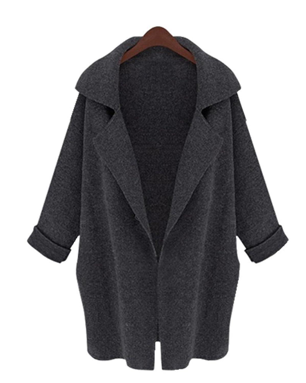 Huafeiwude Womens Long Knitted Cardigan Winter Outerwear Sweater Coat Jacket