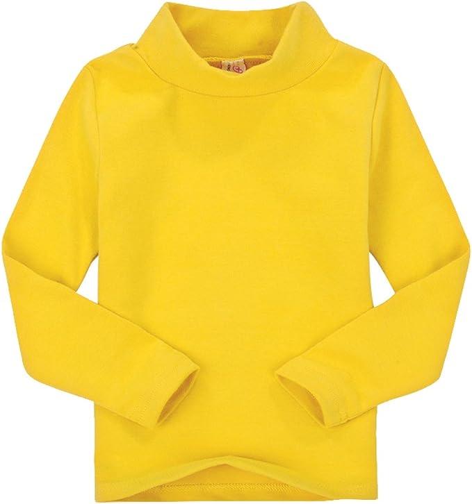 CuteOn Niños para niños | Cuello Alto | De Manga Larga | algodón | De Camisetas, Tops, tee Shirt: Amazon.es: Ropa y accesorios