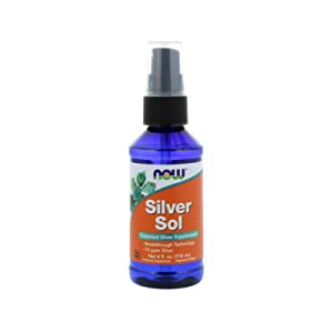 Now Supplements, Silver Sol 10 PPM with Elemental Silver and Deionized Water, Liquid, 4-Ounce
