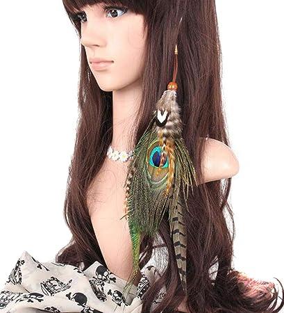 Amazon.com: suoirblss Boho Hippie extensiones de cabello con ...
