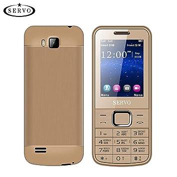 gaeruite SERVO 225 Teléfono Celular 2.4 Pulgadas Tarjetas SIM Dual Spreadtrum6531CA Teléfono, Vibración GPRS Fuera de Radio FM Teclado Ruso Bluetooth, ...