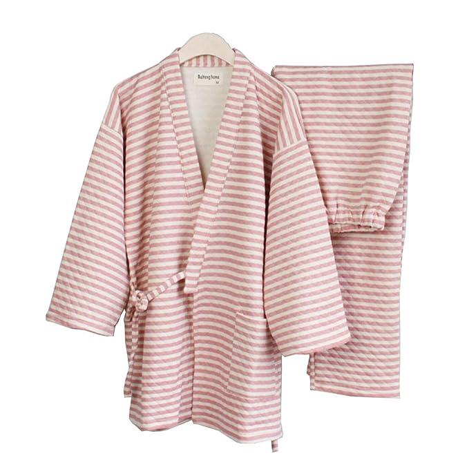 Fancy Pumpkin Traje de Pijamas de Invierno Kimono de Mujer más Grueso Invierno cálido Estilo japonés Robes-Pink: Amazon.es: Ropa y accesorios