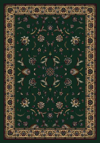 Milliken Floral Area Rugs - Signature Isfahan Emerald Rug Rug Size: 3'10