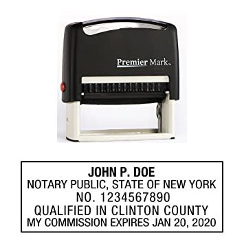 New York Notary Self Inking Rubber Stamp Meets State Specifications