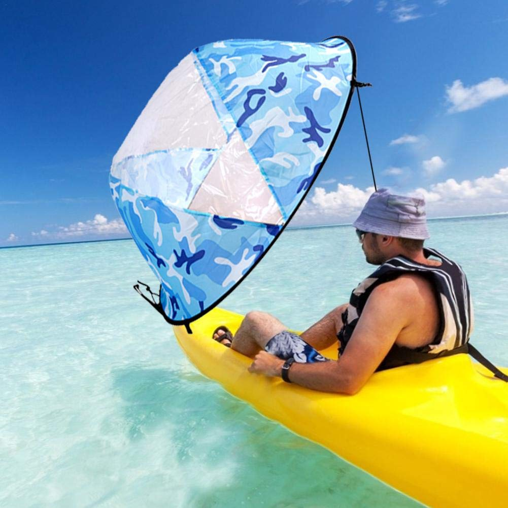 julyso Vela para Kayak, Claro Kayak Doble Viento a Favor del ...