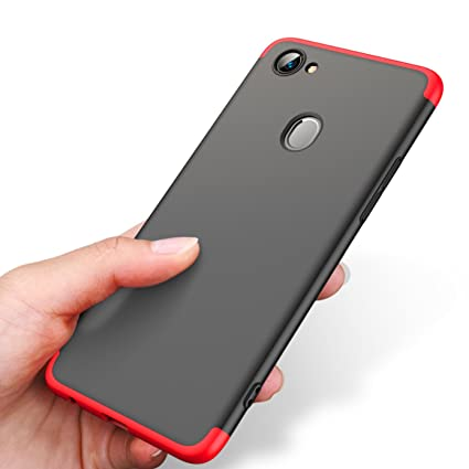 new styles ae9a9 f595e Bounceback ® Oppo F7 Cover Case Back Cover for Oppo F7 (Black Red)