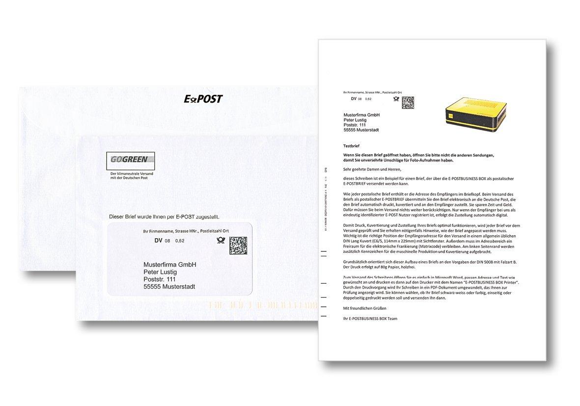E Postbusiness Box Geschäftsbriefe Und Rechnungsversand Exklusiv