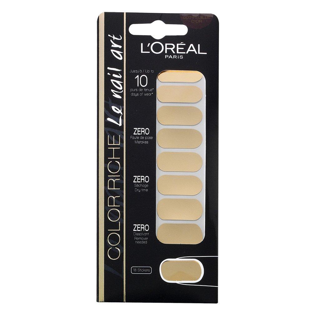 L\'oreal Stickers Color Riche Le Nail Art - 007 Feuille D\'or: Amazon ...