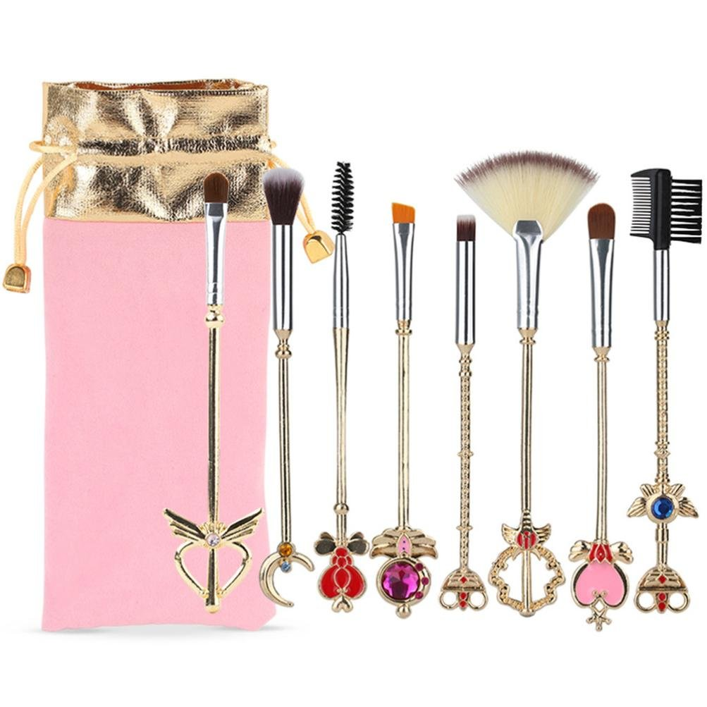 daac3a494d95 Amazon.com: Huphoon Makeup Brush Kit 8PCS Vintage Romance ...