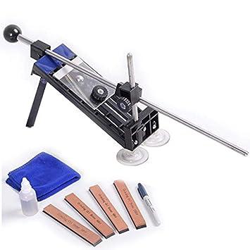 Profi Messerschleifer Messerschärfer Sharpener Fixed-Winkel mit 4 Schleifstein+