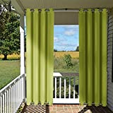 patio outdoor privacy curtain pergola nicetown triple weave microfiber grommet thermal insulated wind resistant blackout curtain drape