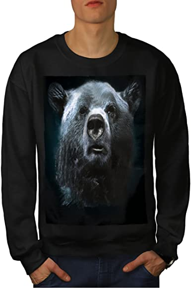 Funny Casual Jumper wellcoda Wild Animal Bear Beast Mens Sweatshirt