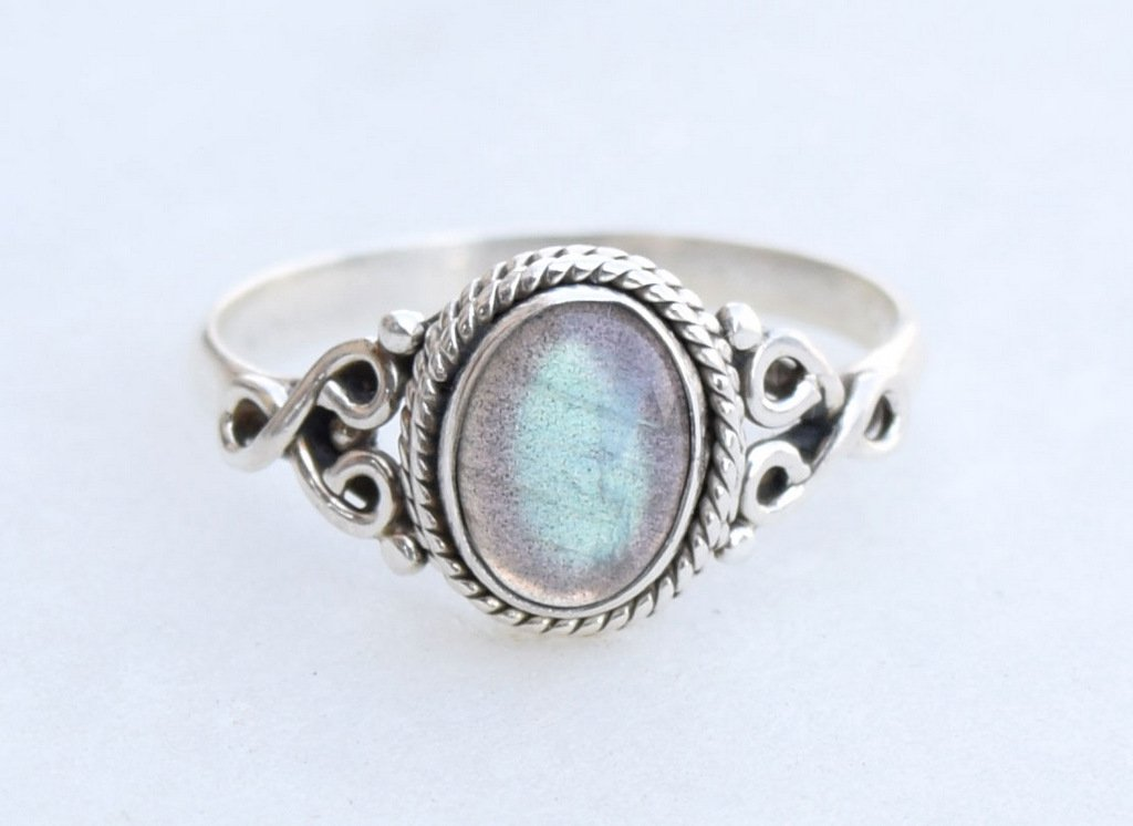 Labradorite Silver Ring 925 Solid Sterling Silver Handmade Jewelry size 3-13 US