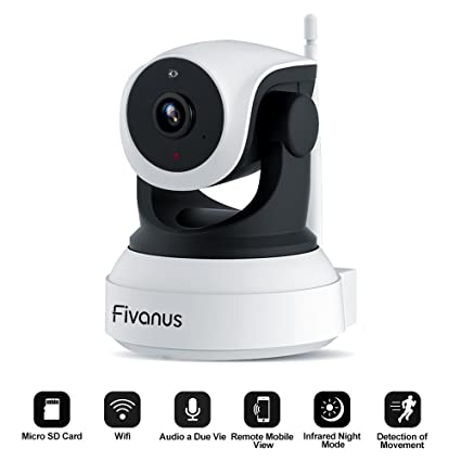 【Latest Version】Fivanus IP Camera Security Wireless Indoor Camera 720P HD  IP Cam Surveillance System in Home for Baby/Elder/Pet,With Two-Way