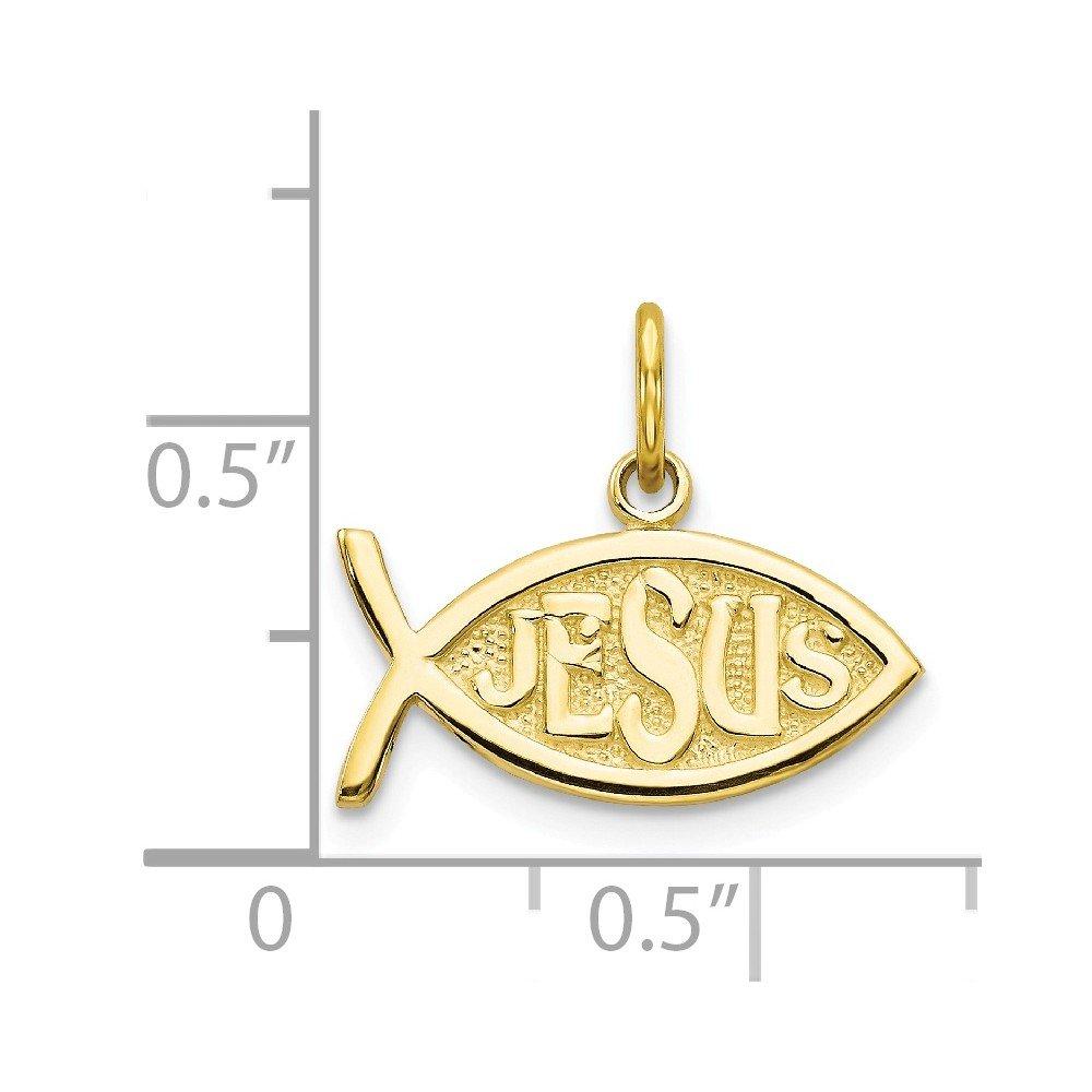10k Yellow Gold JESUS FISH CHARM