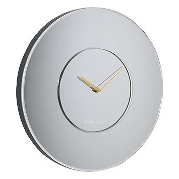 Amazonde London Clock Wanduhr Groß Rund Verspiegelt 40 X 40 X